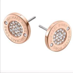 Rose Gold Michael KORS Brilliant Stud Earrings